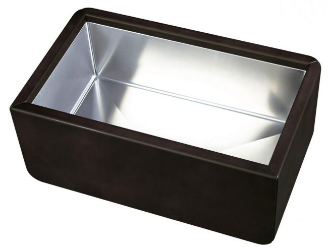 Leather Sink Chambord Dagobert Black - E5000N0ST 009