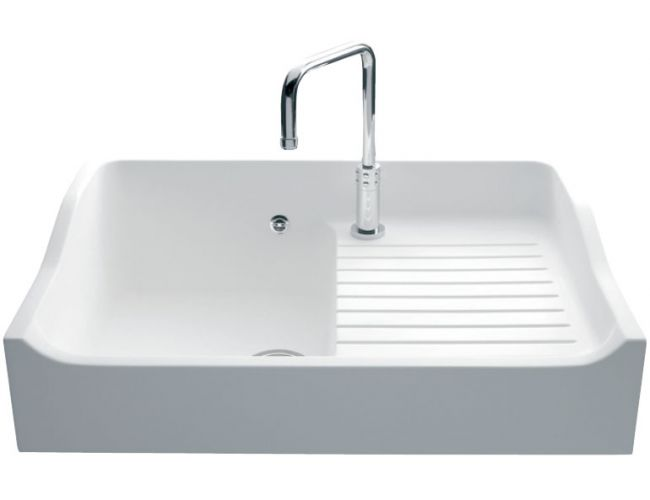 Lavello in solid surface Luisina Concept EV159 - 900 x 610 mm