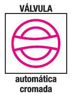 Valvula automatica cromada