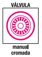 Valvula manual cromada