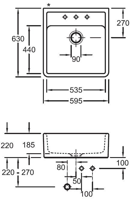 Sink measures Luisina Luisiceram Tradicion EV632062
